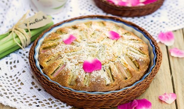 Rhabarberkuchen ohne Ei