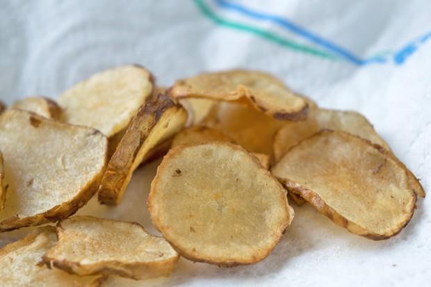 Gebratene Topinambur - Chips
