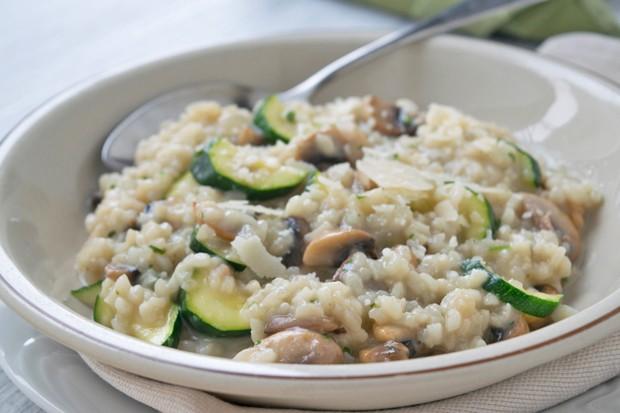 Safranrisotto mit Gemüse