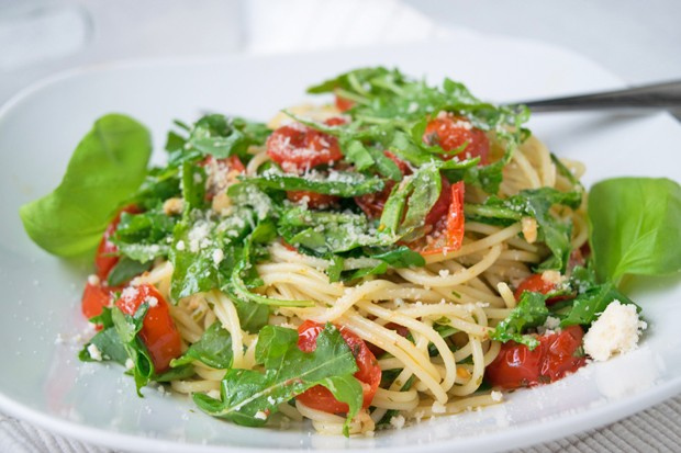 Spaghetti mit Rucola