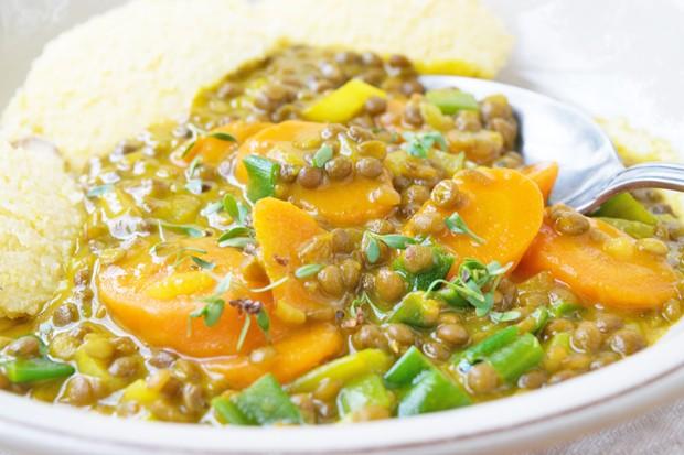 Linsencurry aus dem Schnellkochtopf