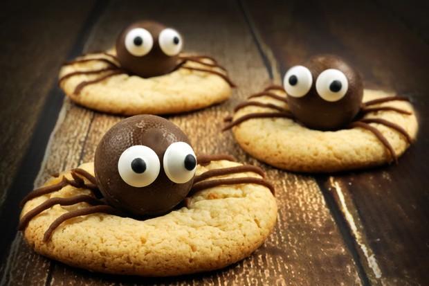 Halloween-Schokoladen-Spinnen-Kekse