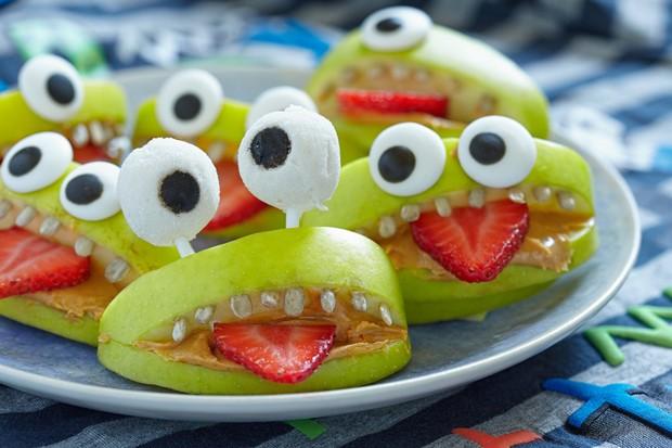 Halloween Apfel Monster
