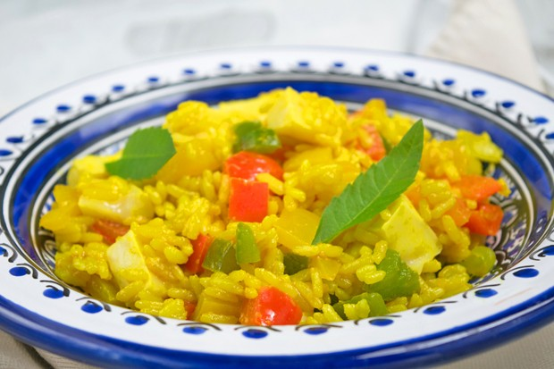 Paprika-Reis-Tofu