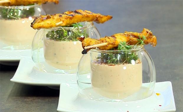 Kefir-Joghurt-Drink mit Papaya