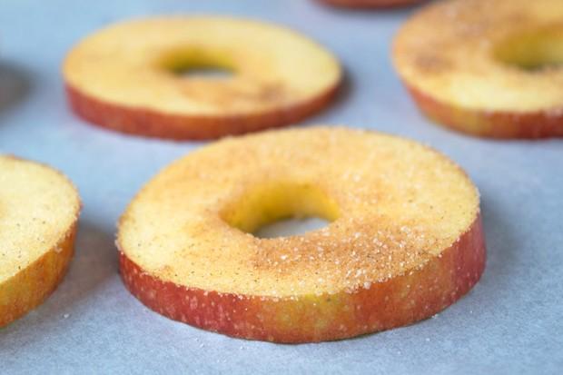 Karamellisierte Apfelscheiben