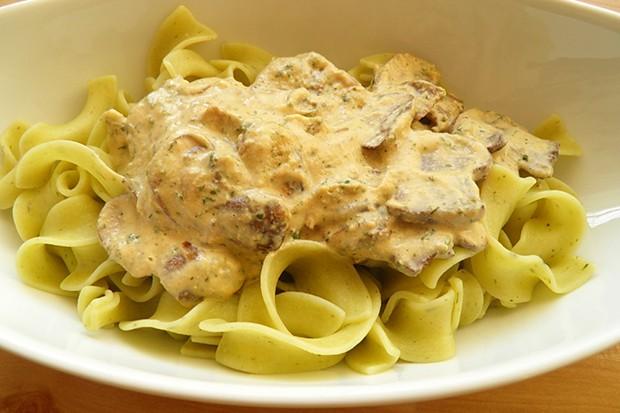 Nudeln mit Pilz-Mascarpone-Sauce