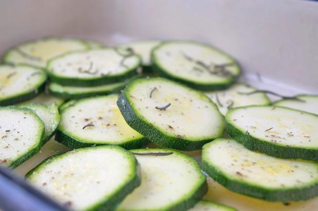 Zucchinigemüse aus dem Ofen