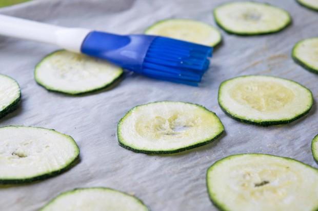 Zucchini Chips aus dem Backofen