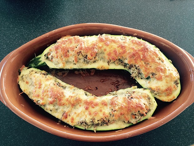 Omas gefüllte Zucchini