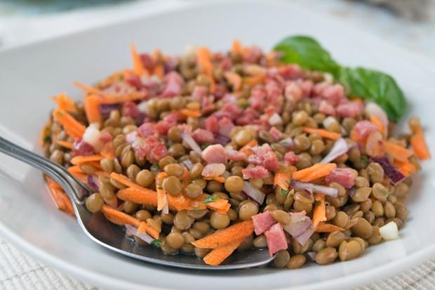 Linsen Speck Salat