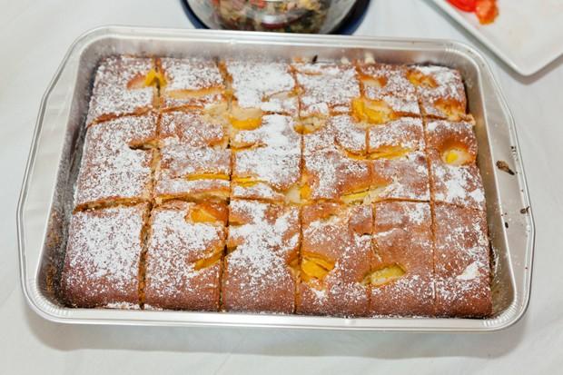 Marillen Blechkuchen mit Topfen