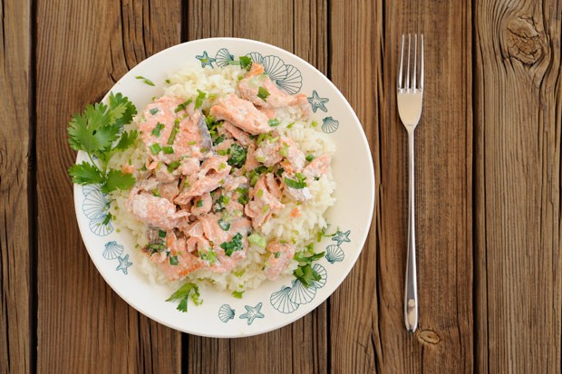 Lachs-Spargel-Risotto