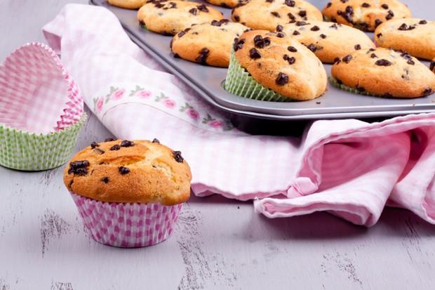 Muffins mit Schokoladenstücke
