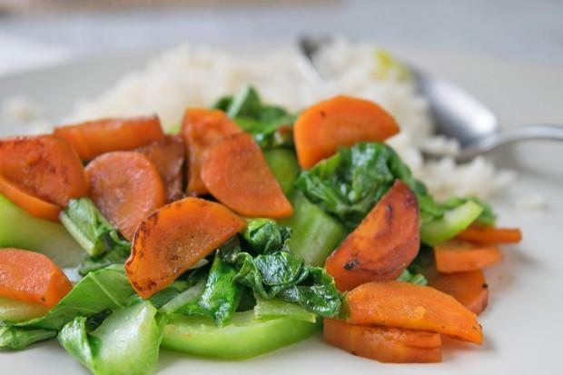 Pak Choi Wok Gemüse