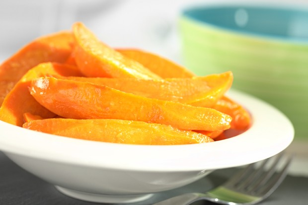 Karamellisierte Süßkartoffel