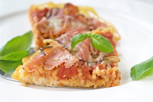 Spaghettipizza vom Blech