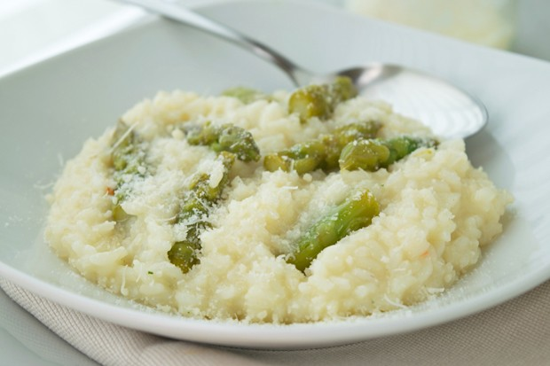 Cremiges Spargel-Risotto