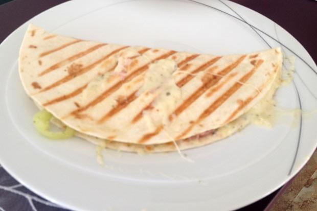 Gefüllte Tortilla