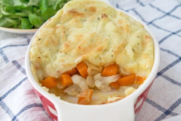 Karfiol-Karotten-Auflauf