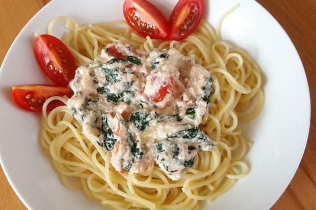 Spinat-Ricotta Spaghetti