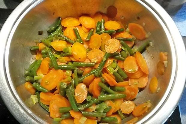 Karotten-Fisolengemüse