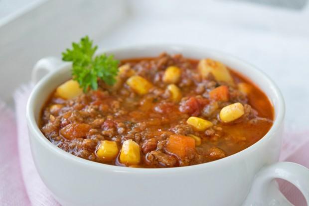 Gemüse-Eintopf mit Faschierten