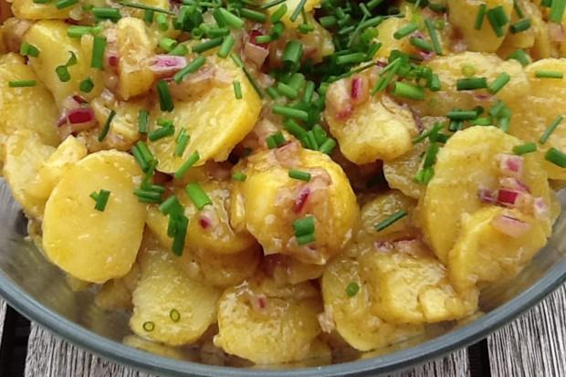 Kartoffelsalat mit Kürbiskernöl
