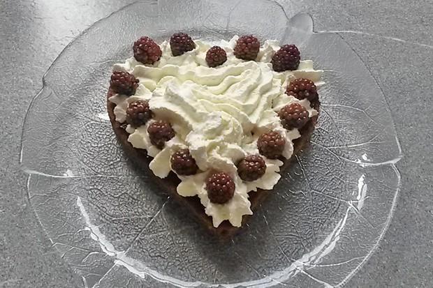 Schokoladen-Brombeerherz