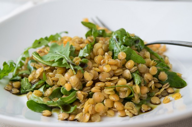 Linsen-Rucola-Salat