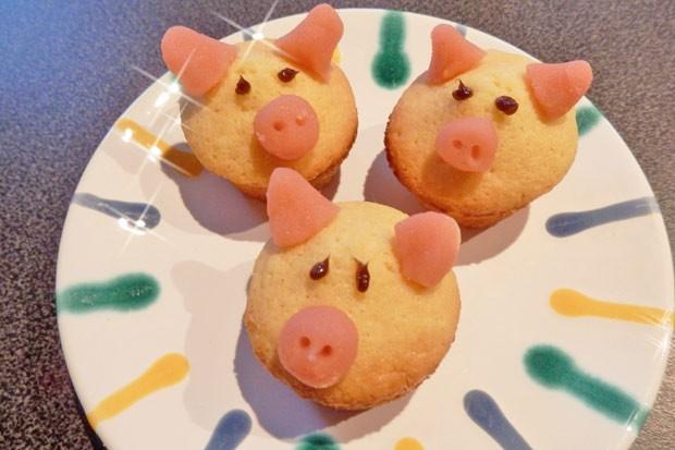 Glücksschweinchen mit Eierlikör