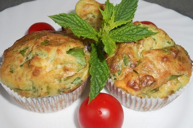 Spinat - Schafkäse Muffins