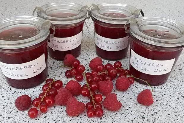 Himbeer-Ribisel-Marmelade