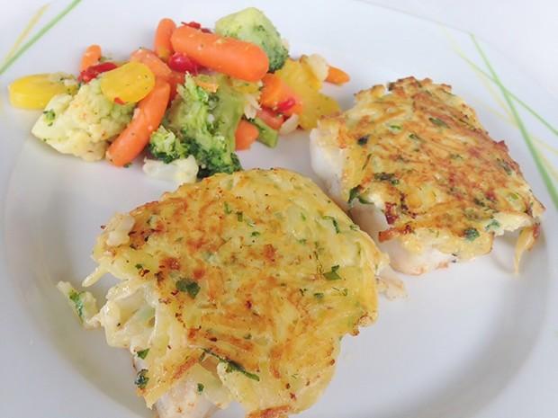 Fisch mit Kartoffelkruste