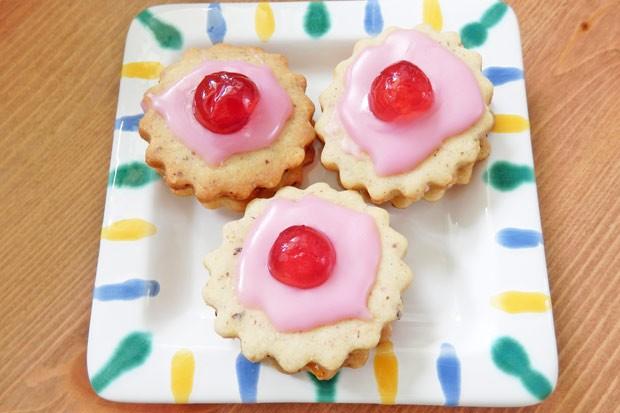 Rosarote Kekse