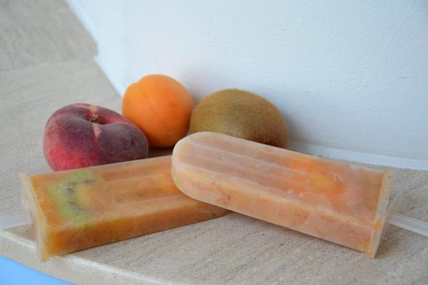Sommerliches Früchtemus-Eis