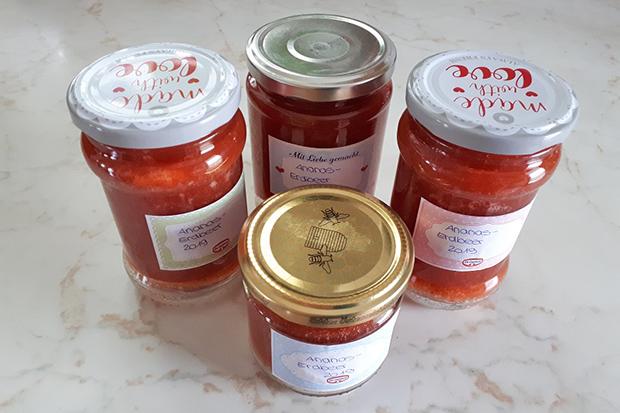 Ananas-Erdbeer-Marmelade