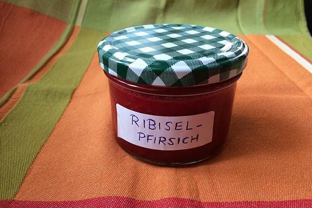 Pfirsich-Johannisbeer-Marmelade