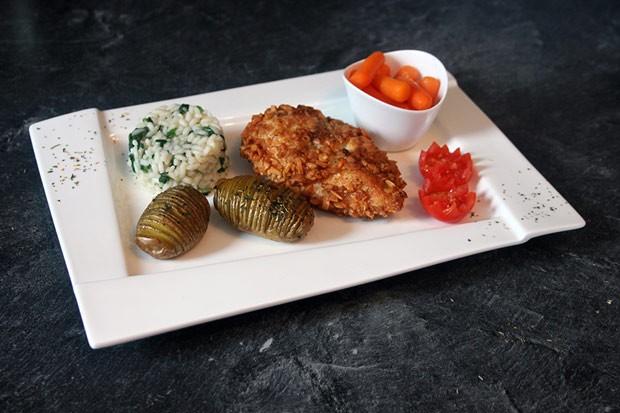 Hühnerbrustfilet in Mandelpanier