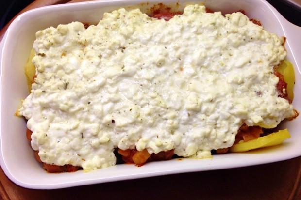 Kartoffel mit Cottagecheese überbacken