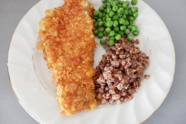 Seelachsfilets mit Cornflakespanier