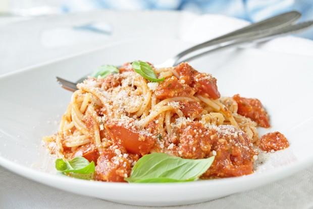 Mandel-Tomatensoße zu Nudeln