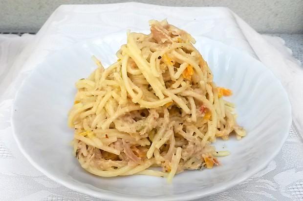 Einfache Thunfischspaghetti