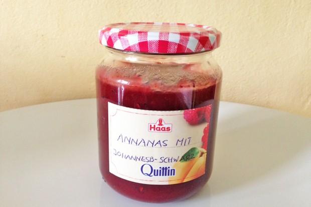 Ananas-Johannisbeere-Jostabeere Marmelade