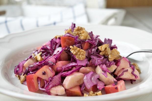 Blaukraut-Obst-Salat