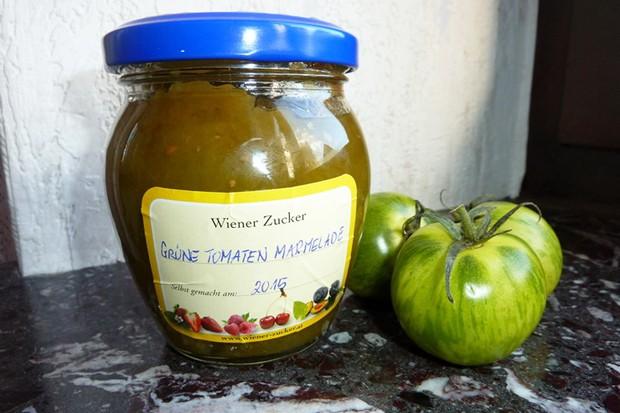 Tomatenmarmelade von grünen Tomaten