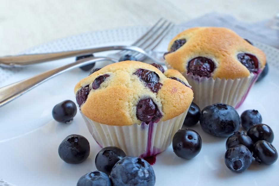 Heidelbeer-Sauerrahm-Muffins
