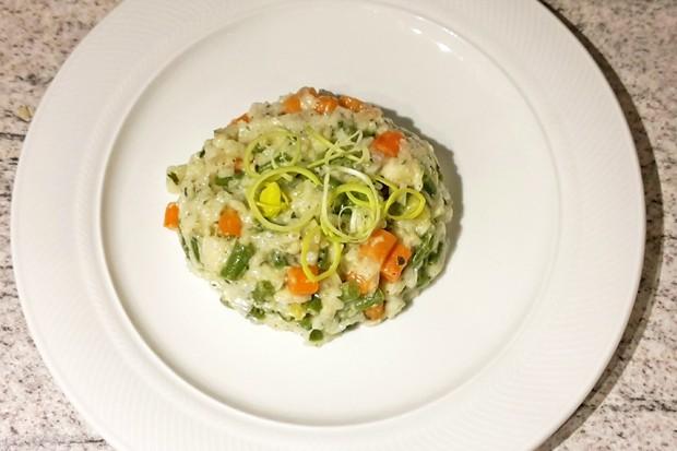 Risotto mit Gemüse und Käse