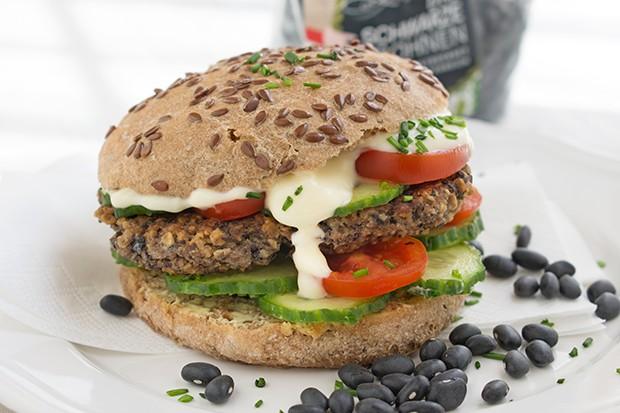 Schwarze Bohnen Burger
