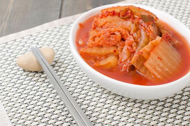 Kimchi, fermentierter Chinakohl